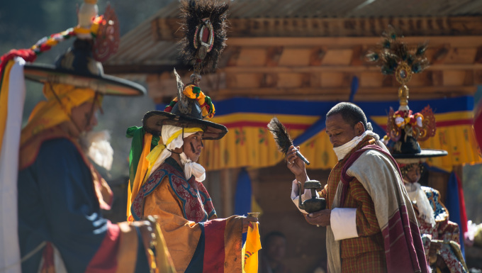 Buddhism first arrived ti Bhutan in 8th century and gently integrated local beliefs and spiritual rituals.