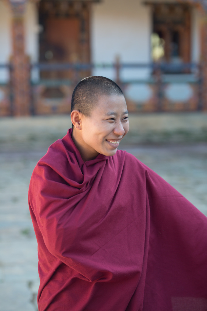 19 years-old Pema Yangzom decided to become a nun two month ago.
